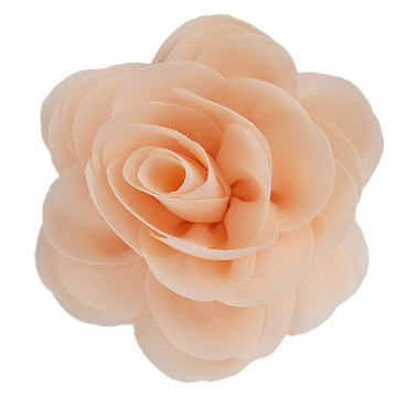 "Peach - 3"" Silky Chiffon Rose Flower"