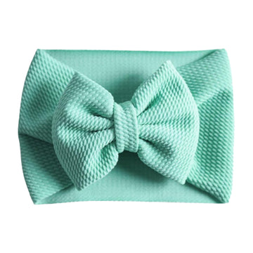 Aqua - Liverpool Bow Headwrap