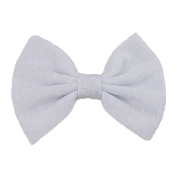 White - XL Jersey Knit Bow