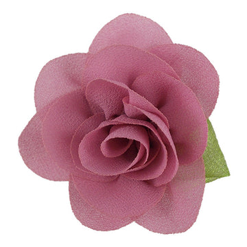 "Dusty Rose - 2"" Chiffon Blossom Flower with Leaf"