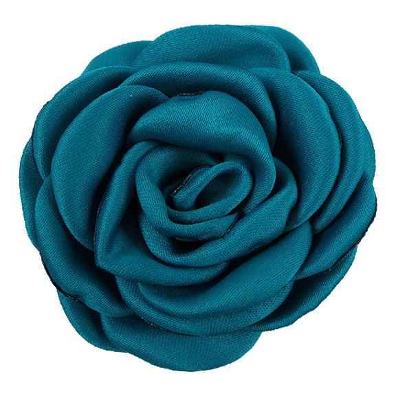 "Teal - 2.25"" Satin Petal Rose"