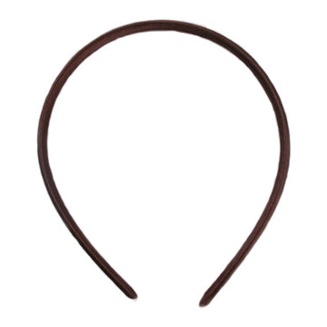 Brown - 7mm Satin Lined Headband