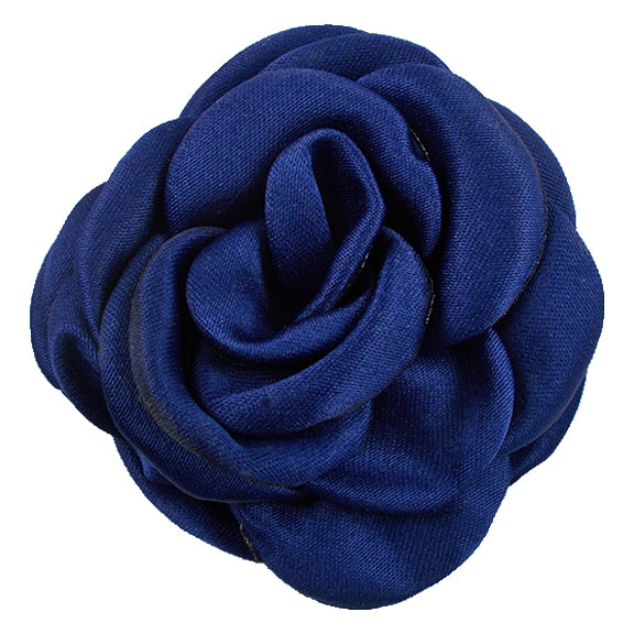 "Navy Blue - 2.25"" Satin Petal Rose"