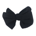 "Black - 4"" Bullet Fabric Messy Bow"