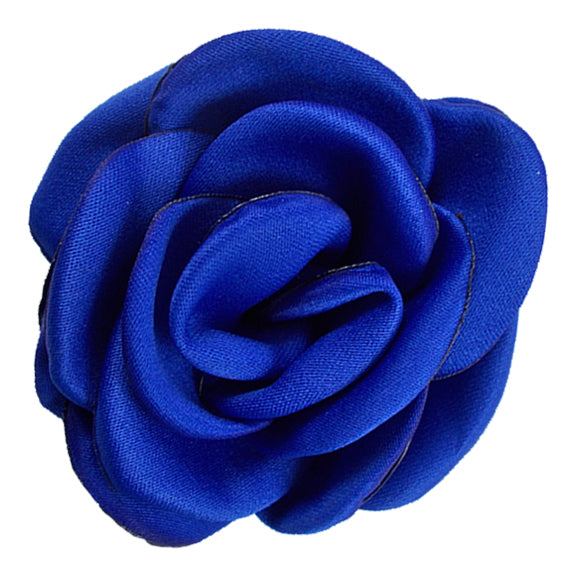 "Royal Blue - 2.25"" Satin Petal Rose"