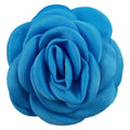 "Blue - 2.25"" Satin Petal Rose"
