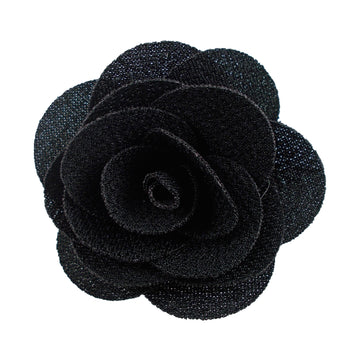 "Black - 2"" Cloth Flower"