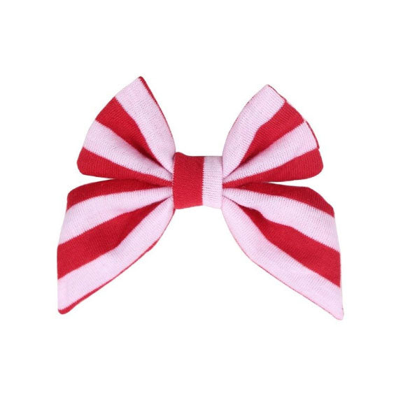 "Red + White Stripe - 3"" Jersey Sailor Bow"