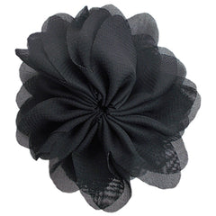 "Black - 3.5"" Ballerina Flower"