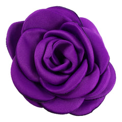 "Purple - 2.25"" Satin Petal Rose"