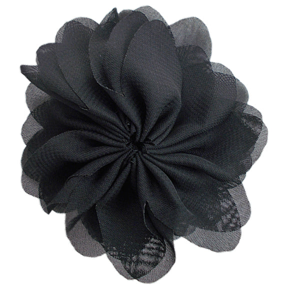 "Black - 2.5"" Ballerina Flower"