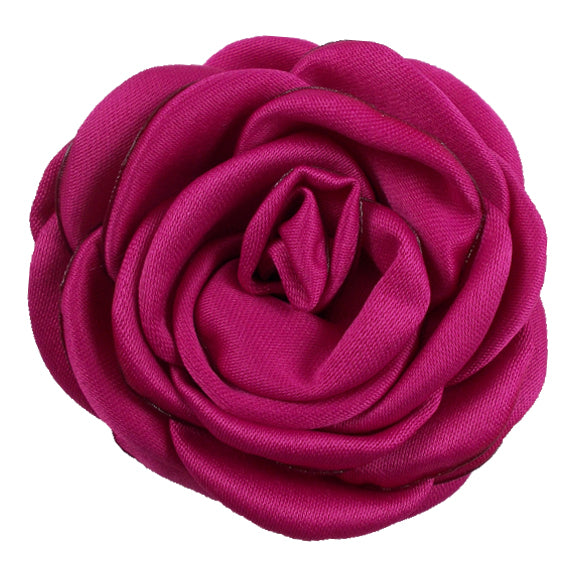 "Fuchsia - 2.25"" Satin Petal Rose"