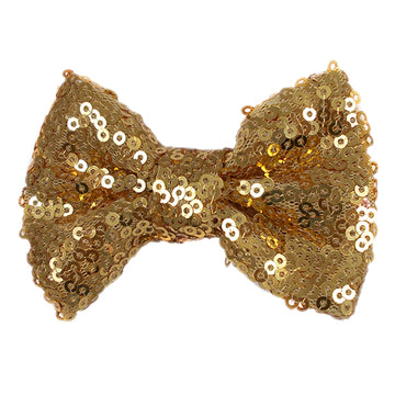 "Gold - 4"" Sequin Bow"