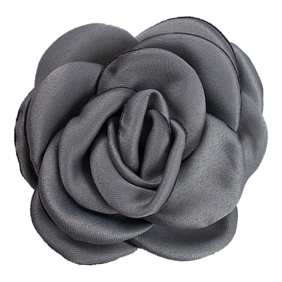 "Gray - 2.25"" Satin Petal Rose"