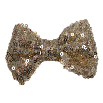 "Light Gold - 4"" Sequin Bow"