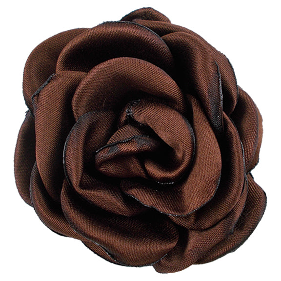 "Brown - 2.25"" Satin Petal Rose"
