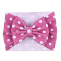 Fuchsia + White Dot - Liverpool Bow Headwrap
