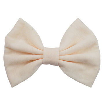 Cream - XL Jersey Knit Bow