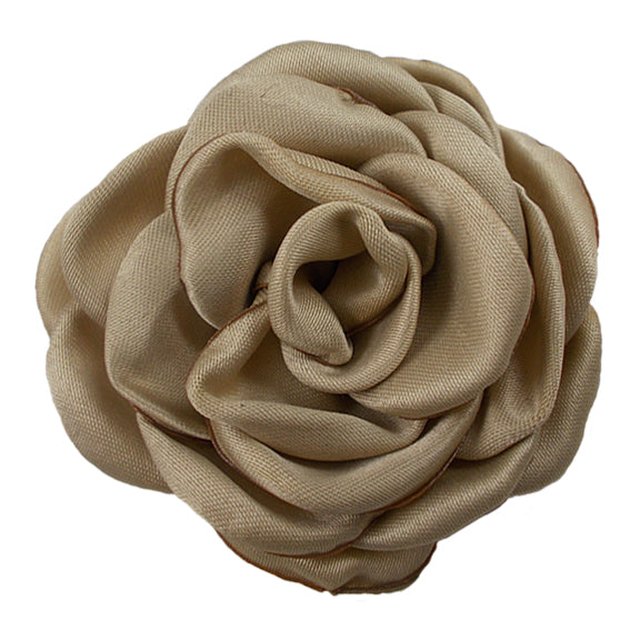 "Tan - 2.25"" Satin Petal Rose"
