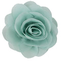 "Pale Sage - 3"" Silky Chiffon Rose Flower"