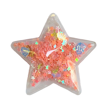 "Light Pink Confetti Shells + Stars - 2.5"" Star w/ Hole"