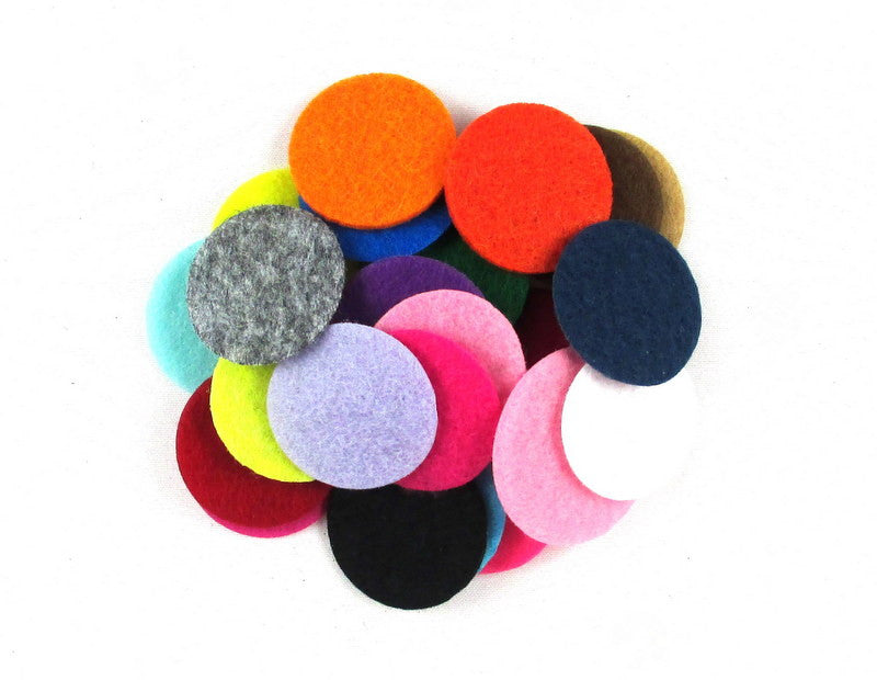 "Grab Bag - 1"" Felt Circles"