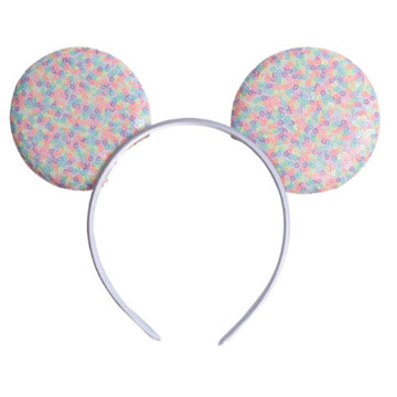 "Candy Confetti - 3.25"" Sequins Mouse Ears Headband"