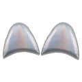 "Silver Iridescent - 2.5"" Unicorn Ears"