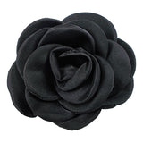 "Black - 2.25"" Satin Petal Rose"