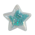 "Blue Confetti Shells + Stars - 2.5"" Star w/ Hole"
