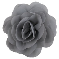 "Gray - 3"" Silky Chiffon Rose Flower"