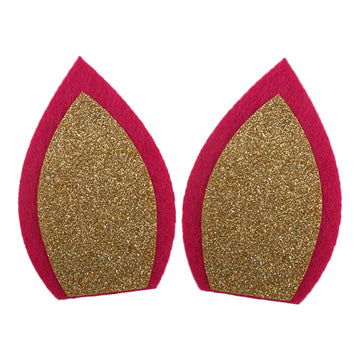 "Hot Pink + Gold - 3"" Felt Unicorn Ears"