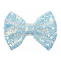 "Pale Aqua Iridescent - 4"" Sequin Bow"