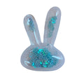 "Blue Confetti Hearts - 2.25"" Bunny Head"