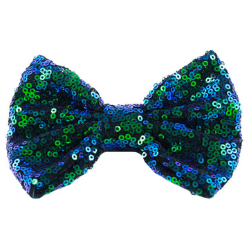 "Peacock - 4"" Sequin Bow"