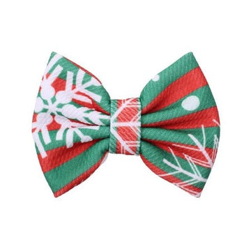 "Be Merry - 5"" Bullet Fabric Bow"