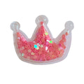 "Pink Confetti Flowers - 2"" Princess Crown"
