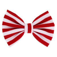 Red & White Striped - XL Jersey Knit Bow