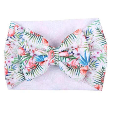 Flamingo Tropics - Liverpool Bow Headwrap