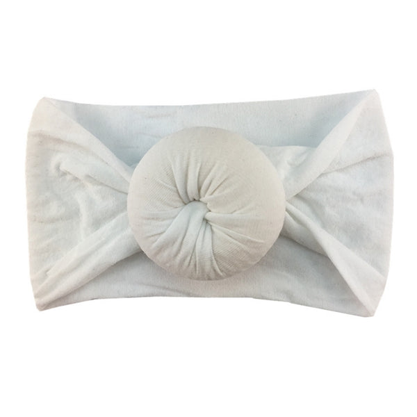 White - Nylon Donut Headwrap
