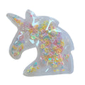 "Pastel Confetti Hearts - 2.5"" Unicorn w/ Hole"