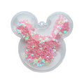 "Light Pink Confetti Stars - 2.5"" Mouse w/ Hole"