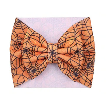 Orange Webs - Liverpool Bow Headwrap