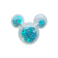 "Blue Confetti Stars - 2"" Mouse Head"