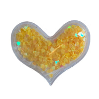"Yellow Confetti Hearts - 2.25"" Heart"