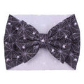 Black Webs - Liverpool Bow Headwrap