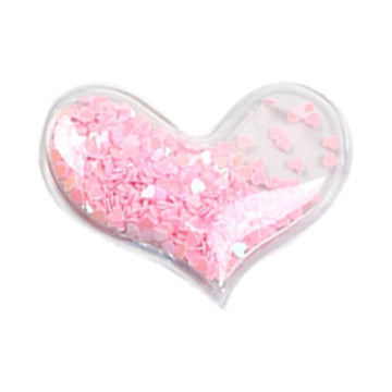 "Light Pink Confetti Hearts - 2.25"" Heart"
