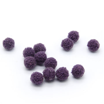"Plum - 3/4"" Wool Ball"
