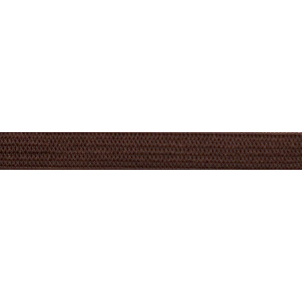 "Brown - 1/4"" Soft Skinny Elastic"