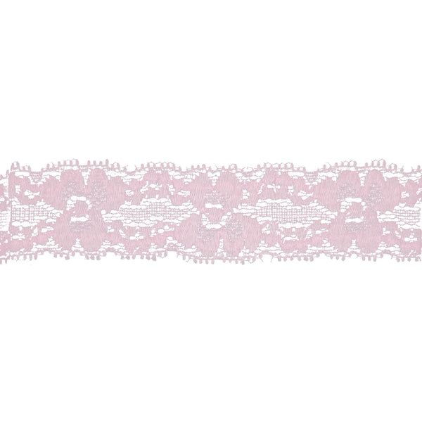 "Light Pink - 1"" Stretch Lace Elastic"